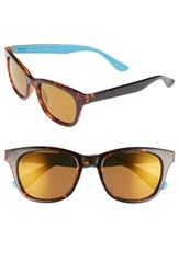 Lilly Pulitzer Maddie 52Mm Polarized Mirrored Sunglasses Aqua Gold Flash Aqua Gold Flash