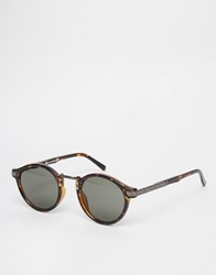 6fa21979c3 Asos Design Vintage Round Lens Sunglasses Brown
