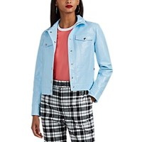 Lisa Perry Snazzy Coated Cotton Jacket Lt. Blue