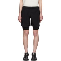 Satisfy Black Long Distance 10 Shorts