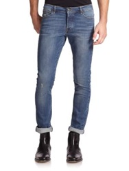 The Kooples Washed Denim Jeans Light Blue