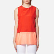 Boss Orange Women's Civille Layered Top Bright Red