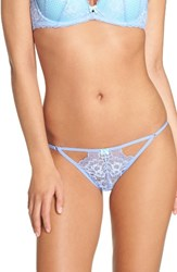 Betsey Johnson Women's Perfectly Sexy Thong Bluebell