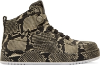 3.1 Phillip Lim Grey And Black Snakeskin Print High Top Sneakers