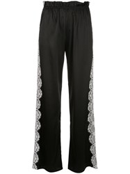 Icons Camelia Lace Stripe Trousers Black