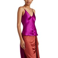 Juan Carlos Obando Silk Satin High Low Camisole Purple