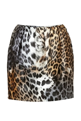 Just Cavalli Animal Print Mini Skirt