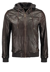 Chevignon One Leather Jacket Cacao Brown