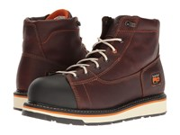 Timberland Gridworks 6 Alloy Safety Toe Boot Red Brown Full Grain Leather Men's Work Boots
