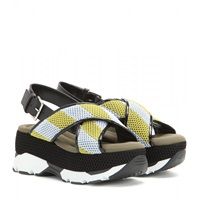 Marni Mesh Leather And Rubber Platform Sandals