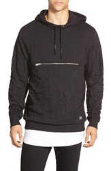 Cheap Monday Creased Pullover Hoodie Punk Black