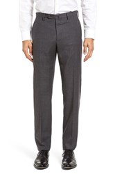 Incotex Men's Benson Flat Front Plaid Wool And Cashmere Trousers Dark Grey