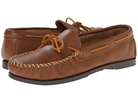 Minnetonka Camp Mocc Maple Smooth Leather Men's Slippers Brown