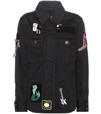 Marc Jacobs Embellished Cotton Jacket Black