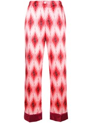 F.R.S For Restless Sleepers Geometric Print Trousers Pink And Purple