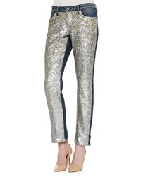 Cj By Cookie Johnson Keeper Boyfriend Sequined Front Jeans Starship