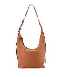 Kooba Joan Leather Crossbody Hobo Bag Medium Beige