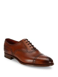 Edward Green Brogued Calf Leather Oxfords Redwood