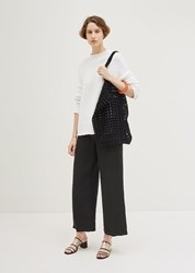 Lauren Manoogian Crochet Net Bag Black