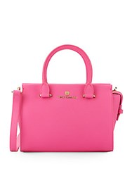 Vince Camuto Small Saffiano Leather Satchel Pink
