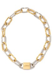 Alexander Wang Silver And Gold Tone Necklace Gold