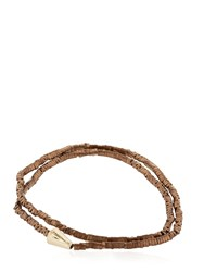 Luis Morais Gold Double Wrap Arrow Bracelet