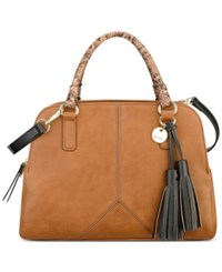 Nine West Tasseled And Tied Satchel Brown