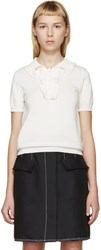 J.W.Anderson Ivory Ruffle Knit Polo