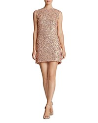 Dress The Population Amber Sequin Mini Champagne Gold