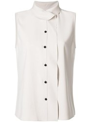 Giorgio Armani Sleeveless Fitted Top Nude And Neutrals