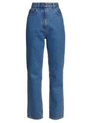 The Row Charlee High Rise Straight Leg Jeans Blue