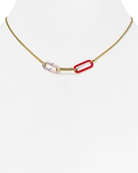 Marc By Marc Jacobs Ferus Bubble Chain Pendant Necklace 16 Conch Blue Multi