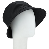John Lewis Waxed Trench Hat Black
