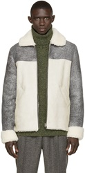 Pigalle Grey Shearling Bomber