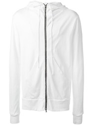 Lost And Found Rooms Zip Up Hoodie White