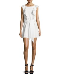 Elizabeth And James Millette Ruffle Trim Mini Dress Ivory Women's Size 2