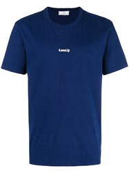 Ami Alexandre Mattiussi T Shirt With Family Embroidery Blue