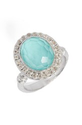 Armenta Women's New World Diamond And Turquoise Ring