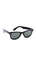 Ray Ban Polarized Wayfarer Sunglasses Black Green Polar