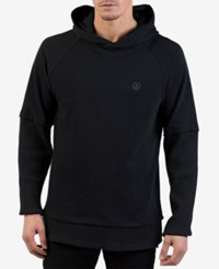 Neff Men's Steezy Layered Pullover Hoodie Black
