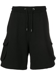Tom Wood Drawstring Cargo Shorts Blue