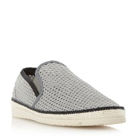 Dune Falmouth Mesh Detail Espadrille Shoes Grey