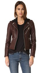 Doma Moto Jacket With Detachable Hood Borgogna
