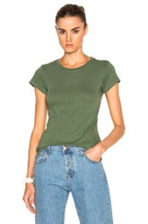 Re Done Slim Tee In Green