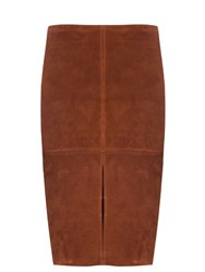 M.I.H Jeans Drake Suede Skirt Brown