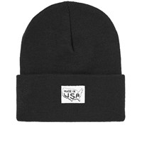Save Khaki Made In Usa Patch Beanie Hat Black