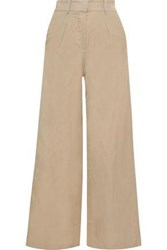 Iris And Ink Woman Canvas Wide Leg Pants Sand