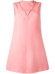 Valentino Sleeveless A Line Dress Pink Purple
