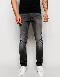 Superdry Washed Grey Jeans In Slim Fit