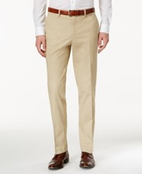Bar Iii Men's Slim Fit Tan Stretch Pants Only At Macy's